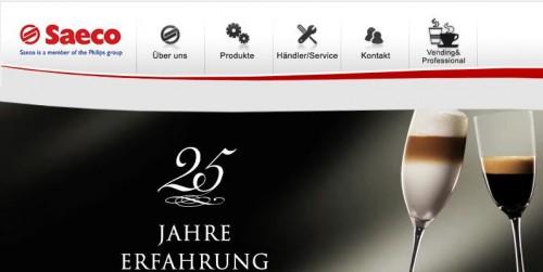 Saeco von Philips machen viel Werbung für Kaffeevollautomaten