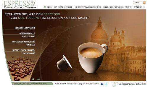 Bio-Kapseln von der Ethical Coffee Company